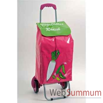 Poussette de marché rose - légumes -002894