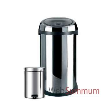 Brabantia poubelle 50l + poubelle 3l brillant steel - touch bin -002965