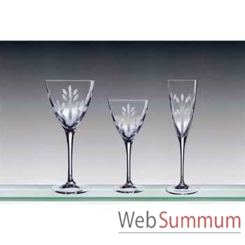 Cristal d'arques coffret de 6 verres à eau 30 cl muse -002969