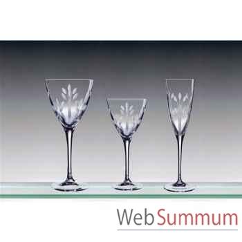 Cristal d'arques coffret de 6 flûtes 17 cl muse -002971