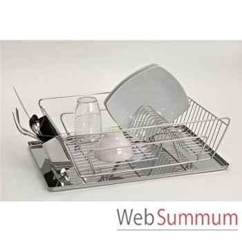 Jour de marche egouttoir à vaisselle tout inox  -003086
