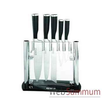Bloc acrylique de 5 couteaux  -003088