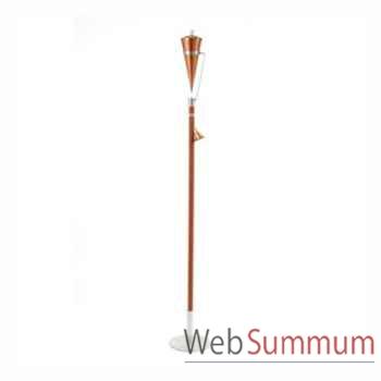 2 Lampes à huile Alexandria finition cuivre rustique Aristo - 820602