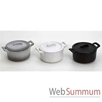 Revol coffret de 3 mini cocottes gris noir blanc - belle cuisine -003256
