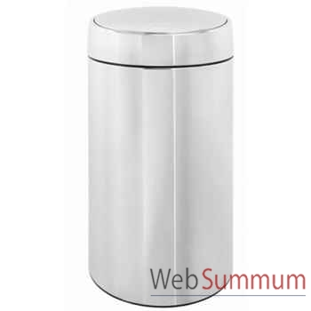 Brabantia poubelle 45l brillant steel - slide bin -003269
