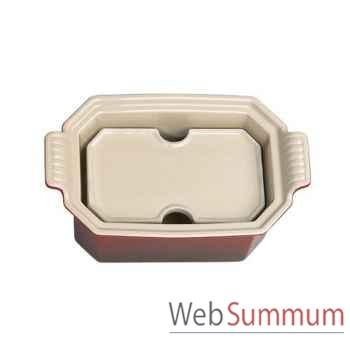 Le creuset terrine foie gras 0,80l cerise + presse -003384