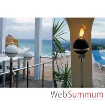 2 Lampes à huile Moon noire diamètre 18 cm Aristo - 822602