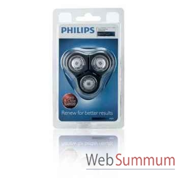 Philips lot de 3 têtes de rasage senso touch 2d + support -004137