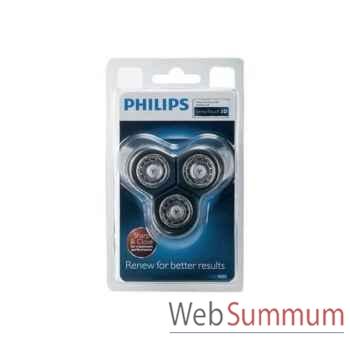 Philips lot de 3 têtes de rasage senso touch 3d + support -004138