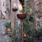2 lampes a huile roma style acier brillant aristo 825619