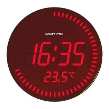 Twins pendule led 28 cm rouge -004817
