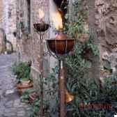 2 lampes a huile roma acier brillant aristo 825608