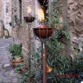2 lampes a huile roma acier brosse aristo 828608