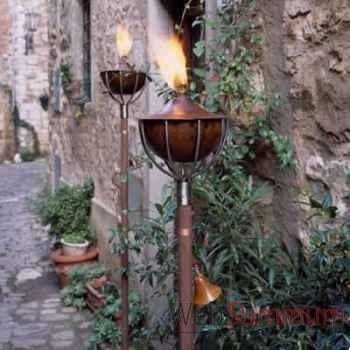 2 Lampes à huile Roma acier brossé Aristo - 828608