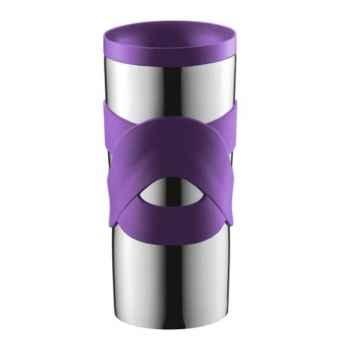 Bodum travel mug 0.45 l étanche inox violet -004937