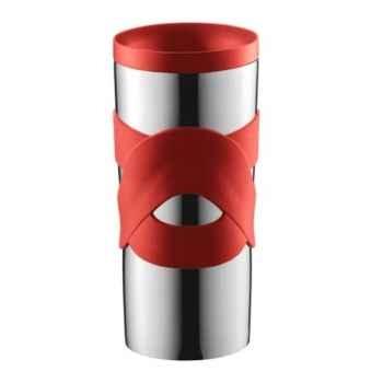 Bodum travel mug 0.45 l étanche inox rouge  -004939