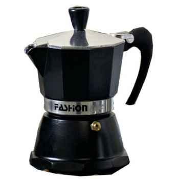 Gat cafetière italienne fashion noire - 6 tasses -005075