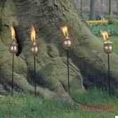 4 lampes a huile brussels acier brosse aristo 828665