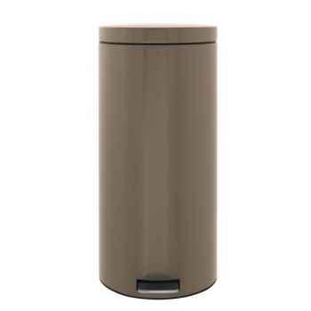 Brabantia poubelle à pédale 30 l taupe -005125