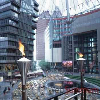 2 Lampes à huile Berlin acier brossé Aristo - 828806