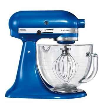 Kitchenaid robot artisan bol verre - bleu électrique -005281