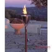 2 lampes a huile amsterdam acier brosse aristo 828821