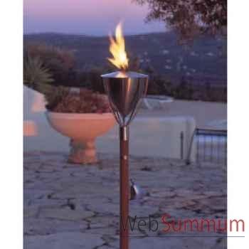 2 Lampes à huile Amsterdam acier brossé Aristo - 828821