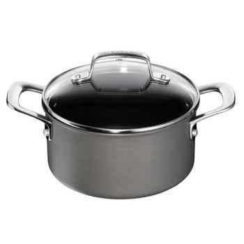 Tefal faitout 24 cm avec couvercle verre noir - jamie oliver anodisé -006427