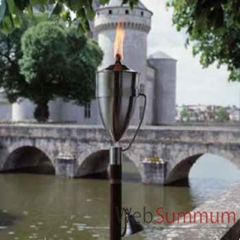 2 Lampes à huile Manhattan modèle acier brossé Aristo - 828655