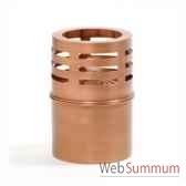 2 lampes a huile copenhagen cuivre rustique aristo 820730