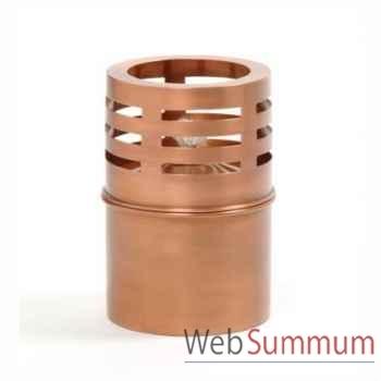 2 Lampes à huile Copenhagen cuivre rustique Aristo - 820730