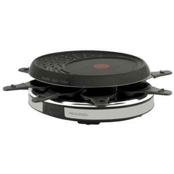 Tefal raclette gril crêpes 8 coupelles noir et inox -006475