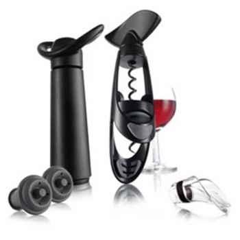 Vacuvin wine set + tire bouchon + pompe à vin + anti-goutte + bouchons -006833