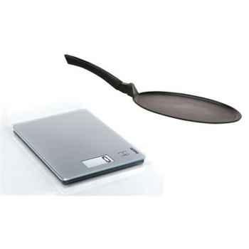 Soehnle lot balance 5kg + crépière 30cm fonte d'aluminium -007893