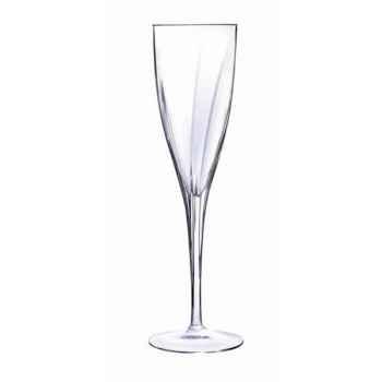 Cristal d'arques lot de 6 flûtes en verre diamax 17cl - elixir -008053
