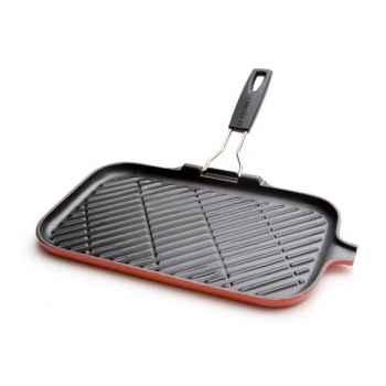 Le creuset grill rectangulaire 36 x 20 cm en fonte cerise -008098