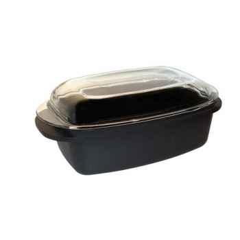 Baumalu cocotte rectangle 32 cm - granit -008435