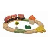 circuit ovale planwood en bois plan toys 6604