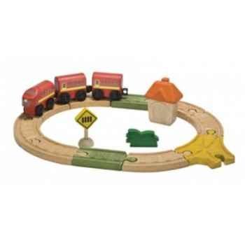 Circuit ovale - planwood en bois  Plan Toys -6604