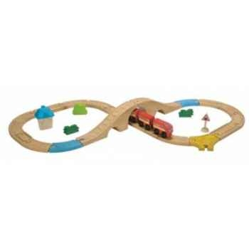 Circuit train en 8 - planwood en bois  Plan Toys -6605