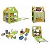 maison de poupees planwood en bois plan toys 7600