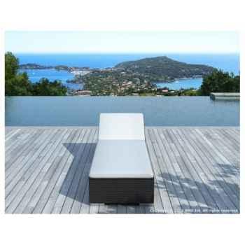 2 x bain de soleil dolce en résine tressée Delorm Design