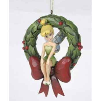 Tinker bell on wreath hanging ornament  Figurines Disney Collection -A23458