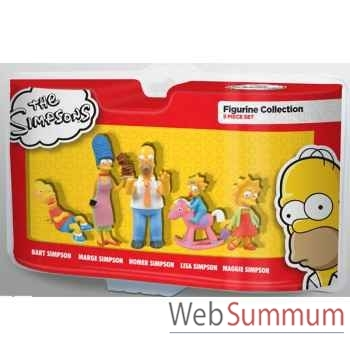 Simpsons - coffret 5 personnages  AbysseCorp -MFGTPF005