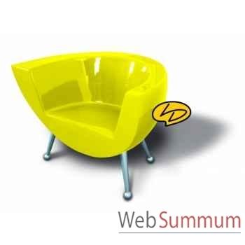 Fauteuil droit clear line jaune soleil  Leblon-Delienne -CLLSG0782JS