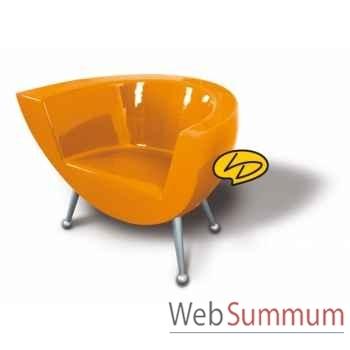 Fauteuil droit clear line orange tonique  Leblon-Delienne -CLLSG0782OT