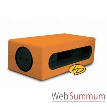 Table basse clear line noir/ orange tonique  Leblon-Delienne -CLLTB040NOT