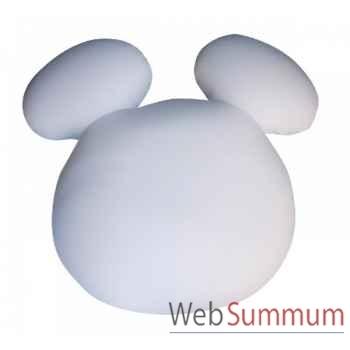 Figurine pouf mickey minnie 100cm base blanche  Leblon-Delienne -DISPF100BC