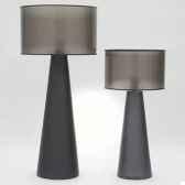 lampe obus argent design fdc 6058argent