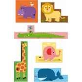 9 cubes en carton les animaux de melusine vilac 4612